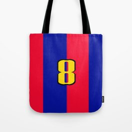 soccer team jersey number eight Tote Bag