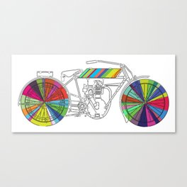 Rainbow Cycle Canvas Print
