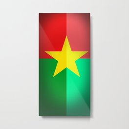 Burkina Faso Flag Metal Print