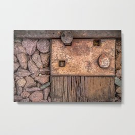Railroad Tie Metal Print