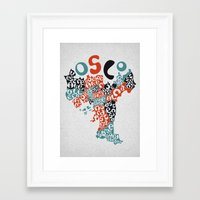 oslo Framed Art Prints featuring Oslo boroughs by Grilldress