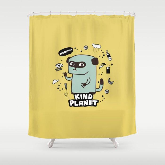 KIND PLANET Shower Curtain By Tharunsubbiah