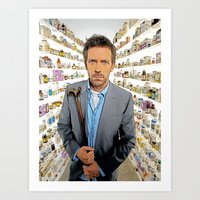 house md Art Prints featuring House MD - Colored Pencil Sketch Style by ElvisTR