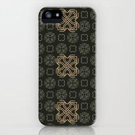 Art Deco Pattern Apricot iPhone Case