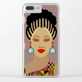African Queen III Clear iPhone Case