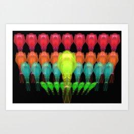 Alien Platoon Art Print