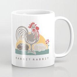 Rabbit Rabbit Year of the Rooster Illustration Coffee Mug