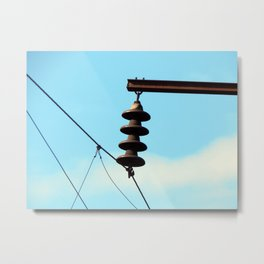 Electricity, electric power lines Metal Print