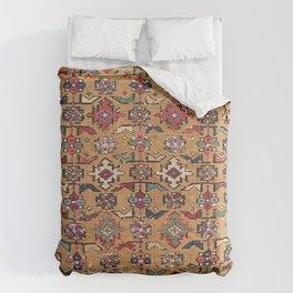 Mustard Khyrdagyd // 19th Century Colorful Dark Red Purple Southwestern Cowboy Ornate Accent Pattern Comforters