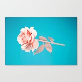 Pastel rose drip Canvas Print