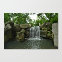 Central Park Waterfall Canvas Print