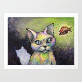 Unlikely friends Art Print