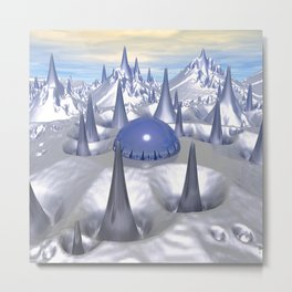 Science Fiction Landscape Metal Print
