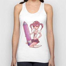 School Girl Unisex Tank Top