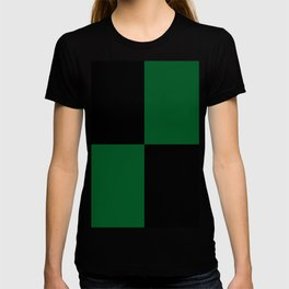 Big mosaic dark green - black T-shirt