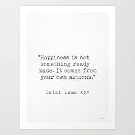 Dalai Lama Happiness Art Print