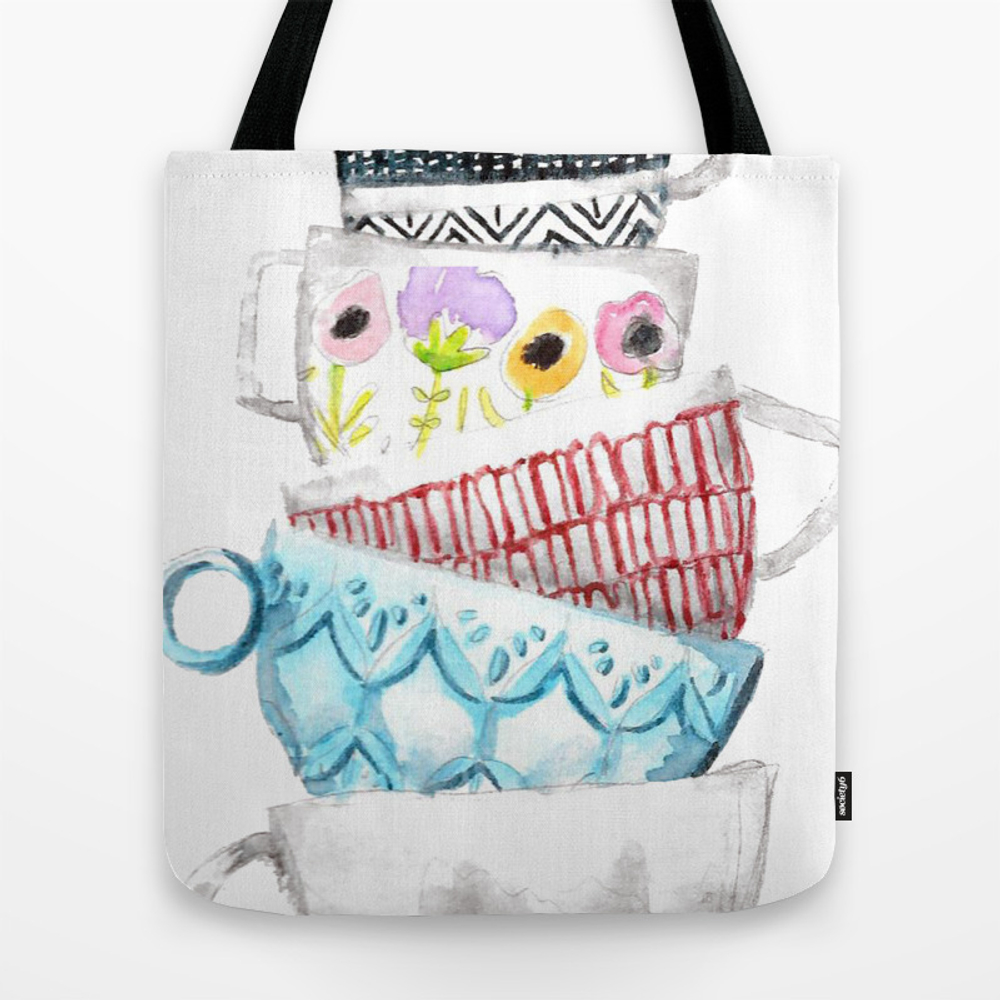 Cups On Cups On Cups Tote Bag by Hapticdrifter TBG8656197