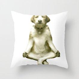 Yoga Dog Throw Pillow