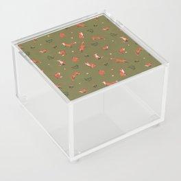 Fox Pattern (small) Acrylic Box