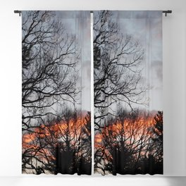 red clouds in the sky Blackout Curtain