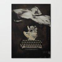typewriter Canvas Prints featuring Typewriter by Tom Melsen