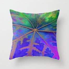 Leaf Incredible, Turquoise Throw Pillow