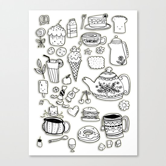 Forever Tea Time 2 Canvas Print