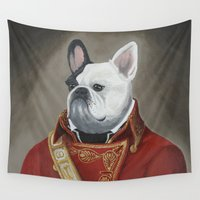 marc Wall Tapestries featuring Marc-Antoine Bouledogue by William Joseph Speer