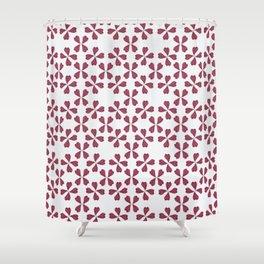 Feather Fan pattern -bordeux Shower Curtain