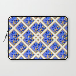 ABSTRACTED BLUE & GOLD PATTERN  CALLA LILIES  DESIGN Laptop Sleeve