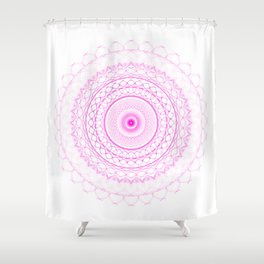 Snowflake #007 transparent Shower Curtain