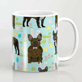 French Bulldog brindle coat easter spring dog costume custom pet portraits Coffee Mug