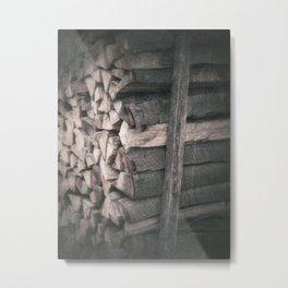 Stacked firewood Metal Print