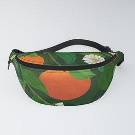 Oranges and Blossoms / Botanical Illustration Fanny Pack