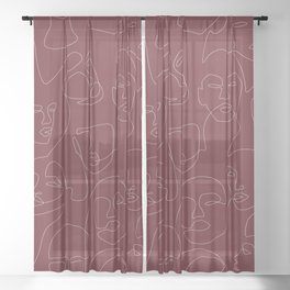 Rich and Bold Sheer Curtain