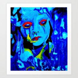 Blue Moon #society6 #decor #buyart Art Print