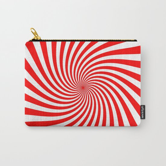 Swirl (Red/White) Carry-All Pouch