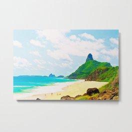 Morro do Pico Painting View Metal Print