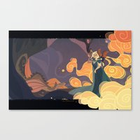 mother of dragons Canvas Prints featuring Mother of dragons by Ann Marcellino