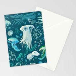 Aqua pattern Stationery Cards