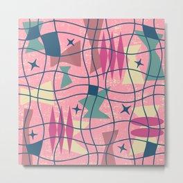 Mid Century Modern Abstract Pattern 413 Metal Print