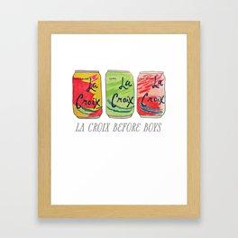La Croix Before Boys Framed Art Print