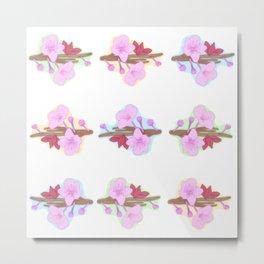 Cherry Blossom Bloom Love Metal Print