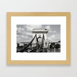 Budapest Chain Bridge Framed Art Print