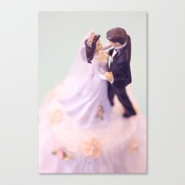 Bride and Groom - bridal shower gift or wedding gift Canvas Print