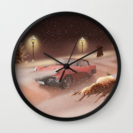 Romantic winter time Wall Clock