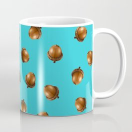 Acorn Pattern-Sky Blue Coffee Mug