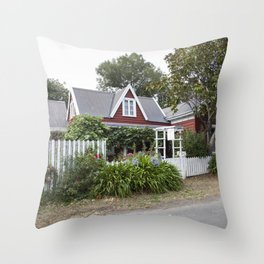 Little French Cottage Throw Pillow
