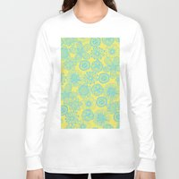 floral pattern Long Sleeve T-shirts featuring floral pattern by Nastya Bo