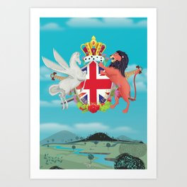 Royal Crest Art Print